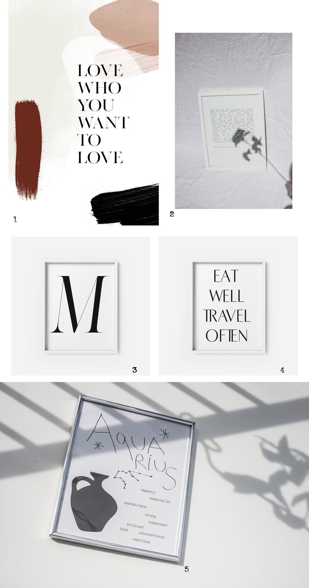 typography art prints
