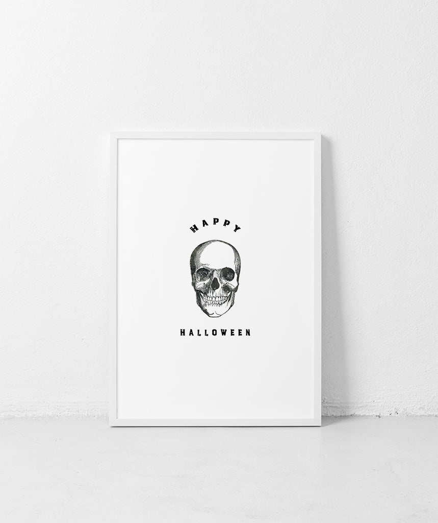Free Halloween Printable Wall Art, Modern and minimalist Halloween Art