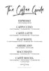 The Coffee Guide - THE PRINTABLE CONCEPT - Printable art posterDigital Download -