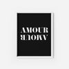 Amour Amour - THE PRINTABLE CONCEPT - Printable art posterDigital Download -