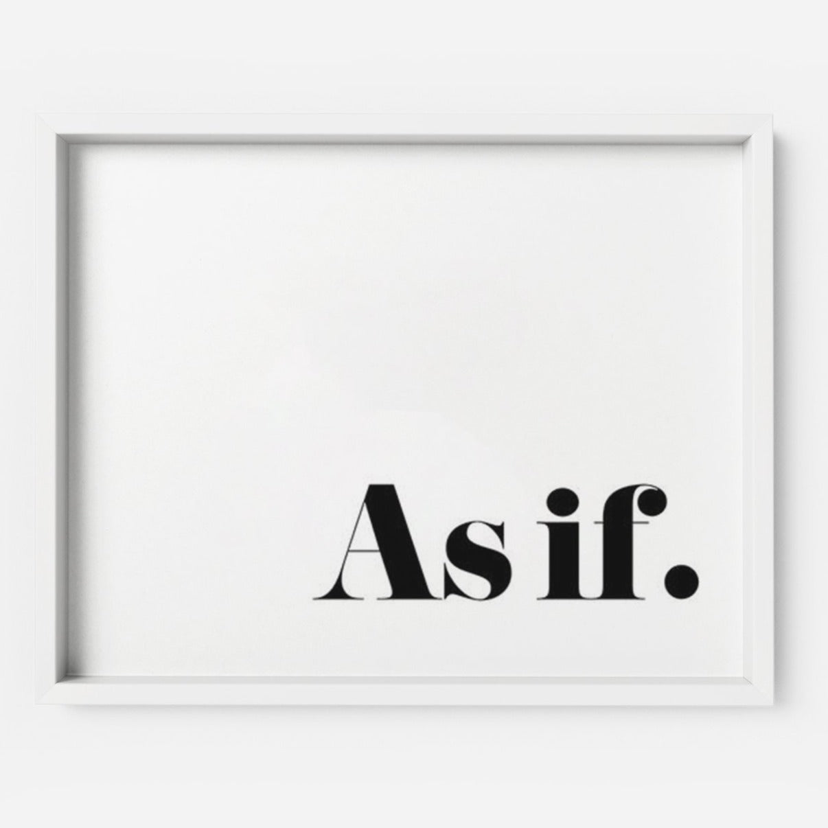 As if. - THE PRINTABLE CONCEPT - Printable art posterDigital Download -