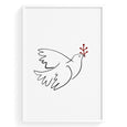 Christmas Dove - THE PRINTABLE CONCEPT - Printable art posterDigital Download -