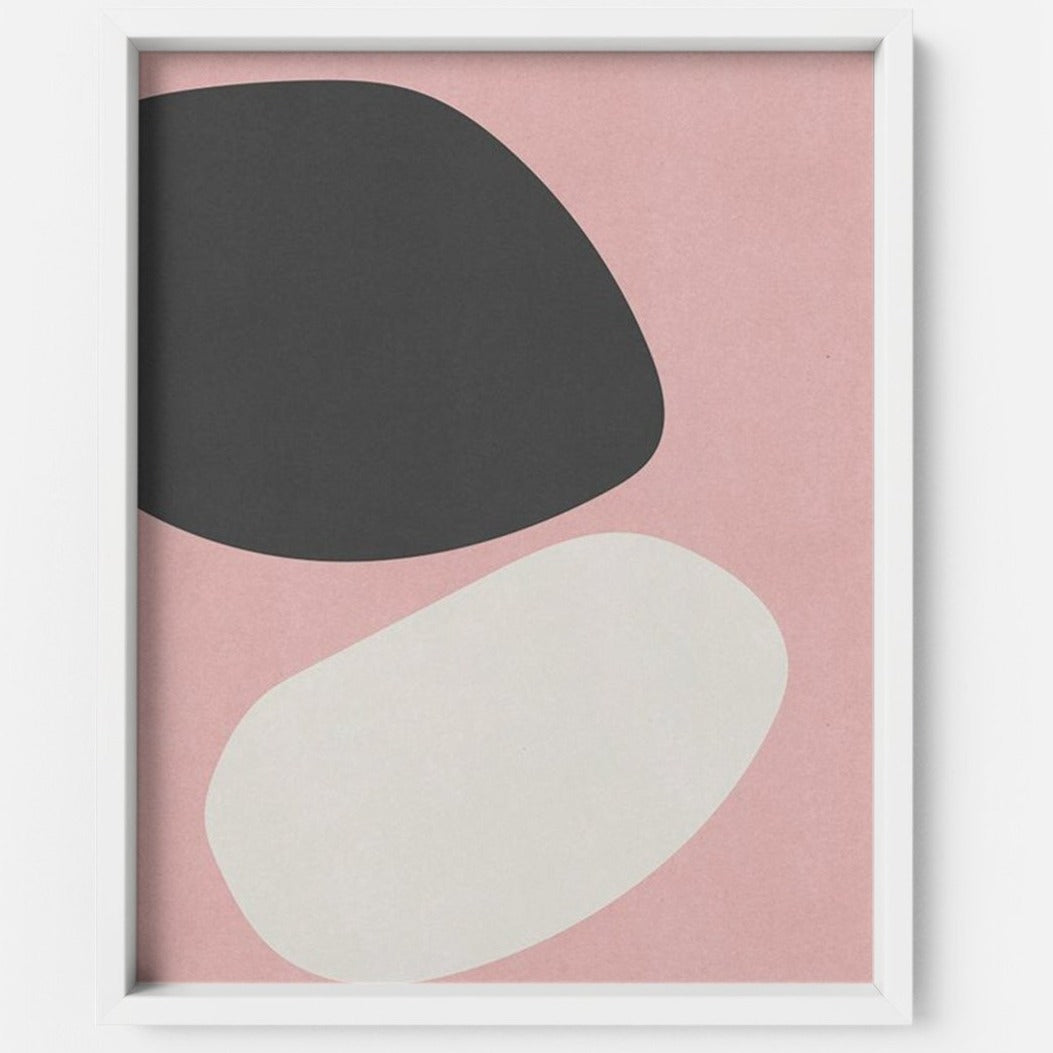 Blush and Black - THE PRINTABLE CONCEPT - Printable art posterDigital Download -