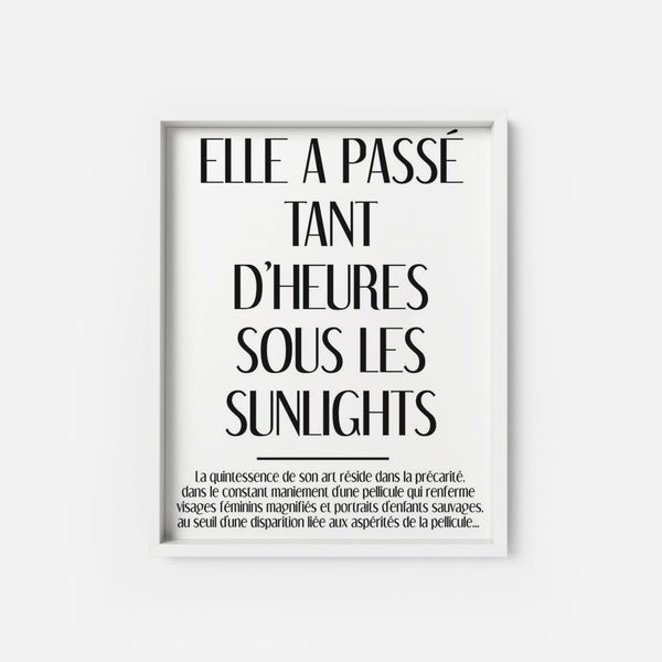 Les Sunlights - THE PRINTABLE CONCEPT - Printable art posterDigital Download -