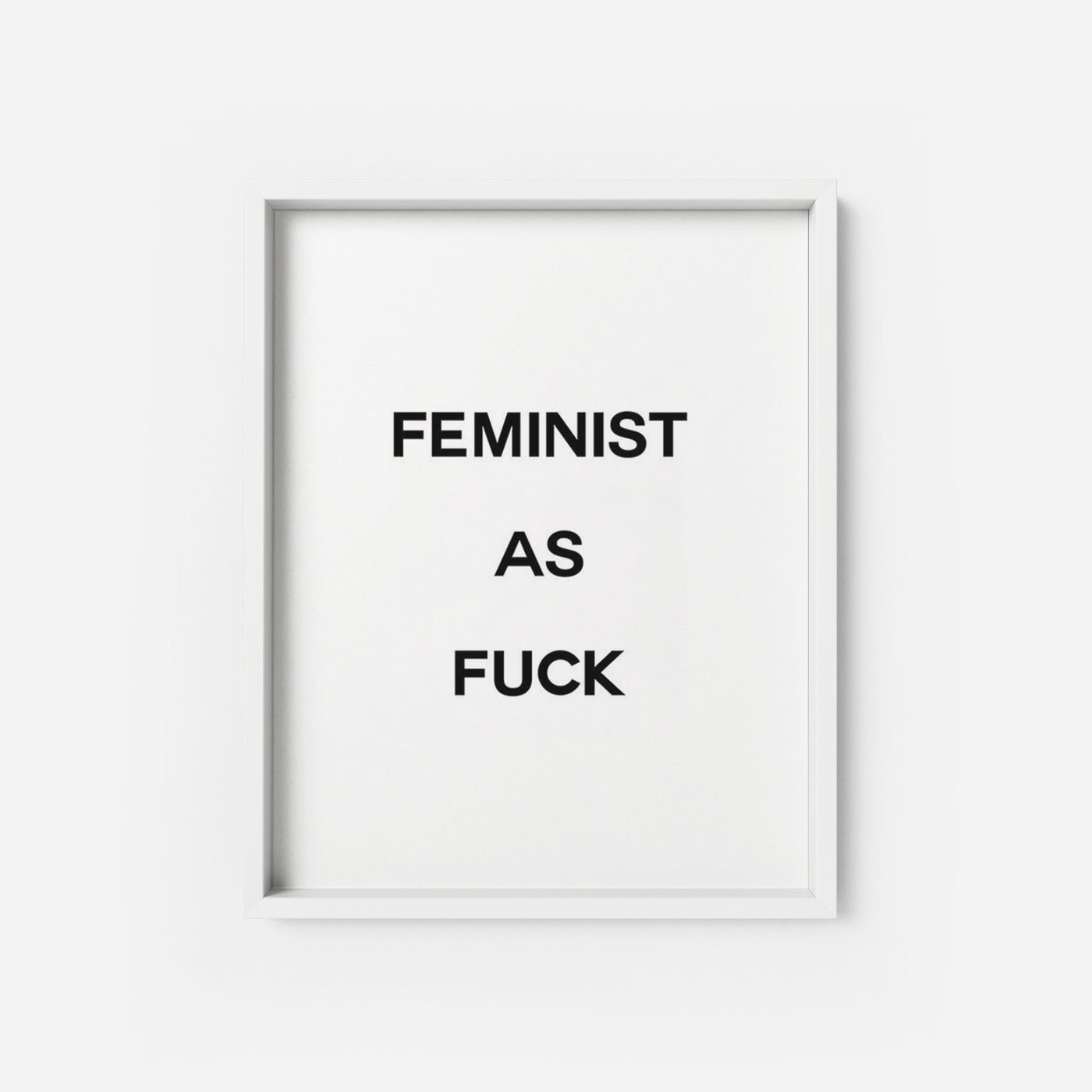 Feminist AF - THE PRINTABLE CONCEPT - Printable art posterDigital Download -