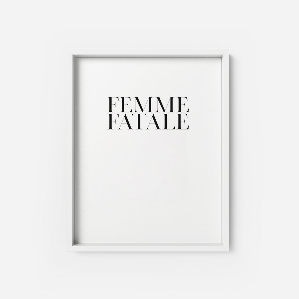 Femme Fatale - THE PRINTABLE CONCEPT - Printable art posterDigital Download -