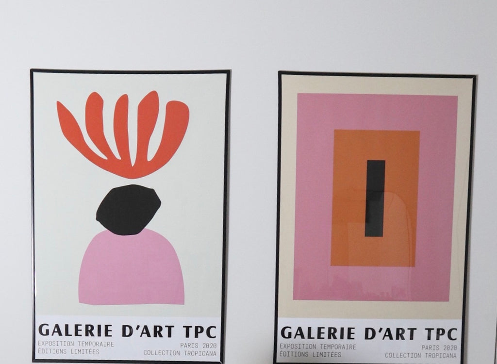 matisse 1 pink red art print poster