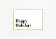Happy Holidays - THE PRINTABLE CONCEPT - Printable art posterDigital Download -