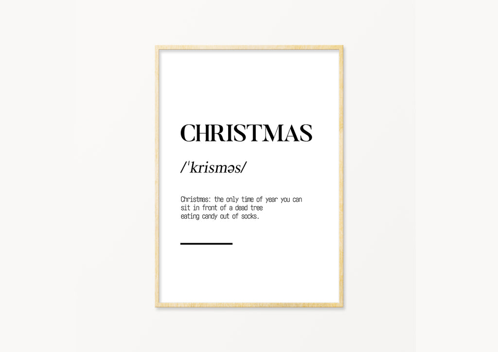 Christmas definition - THE PRINTABLE CONCEPT - Printable art posterDigital Download -