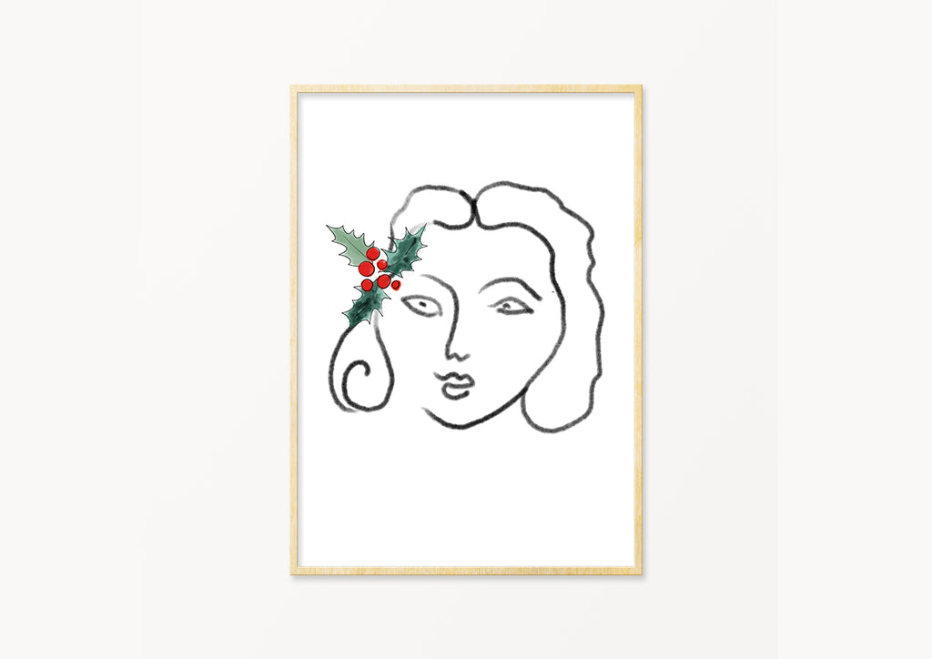 Christmas Girl - THE PRINTABLE CONCEPT - Printable art posterDigital Download -