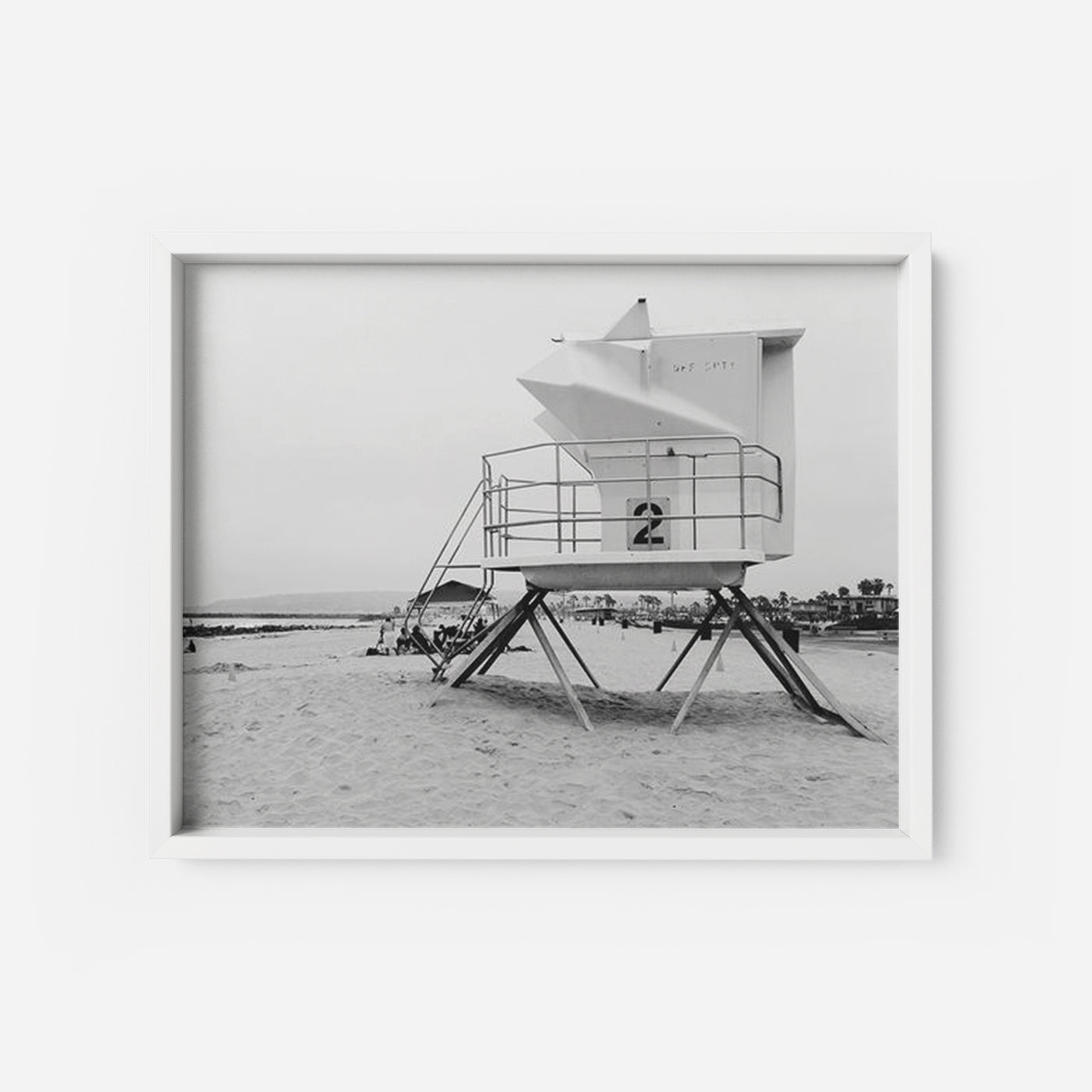 Lifeguard Station Number 2 - THE PRINTABLE CONCEPT - Printable art posterDigital Download -