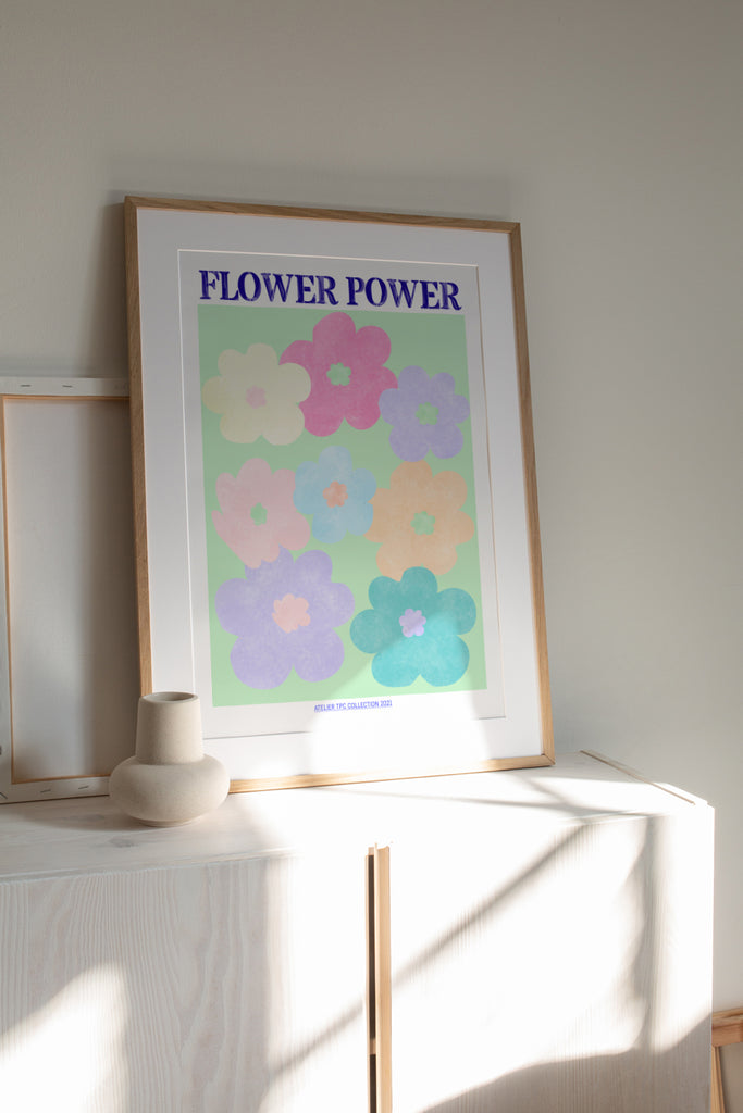 Flower Power 1 | Seventies Floral printable wall art pastel