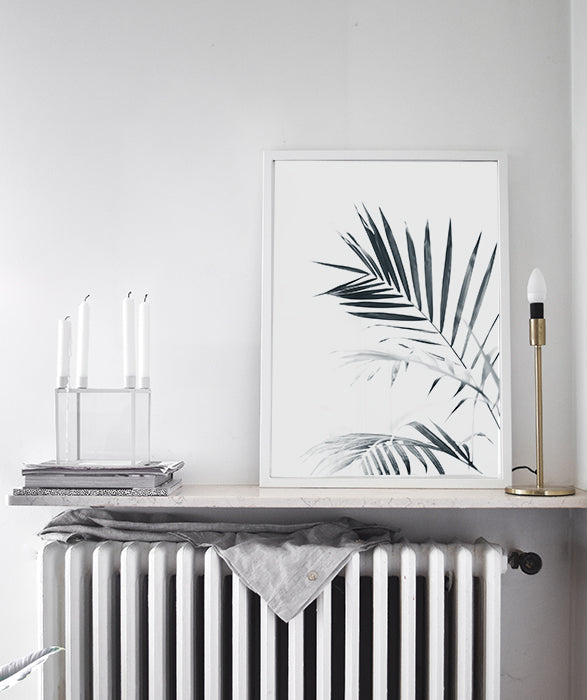 Palm Leaves | Palm Tree Black white photography Scandinavian Art Print