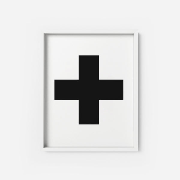 Scandinavian Cross - THE PRINTABLE CONCEPT - Printable art posterDigital Download -