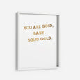 SOLID GOLD - THE PRINTABLE CONCEPT - Printable art posterDigital Download -