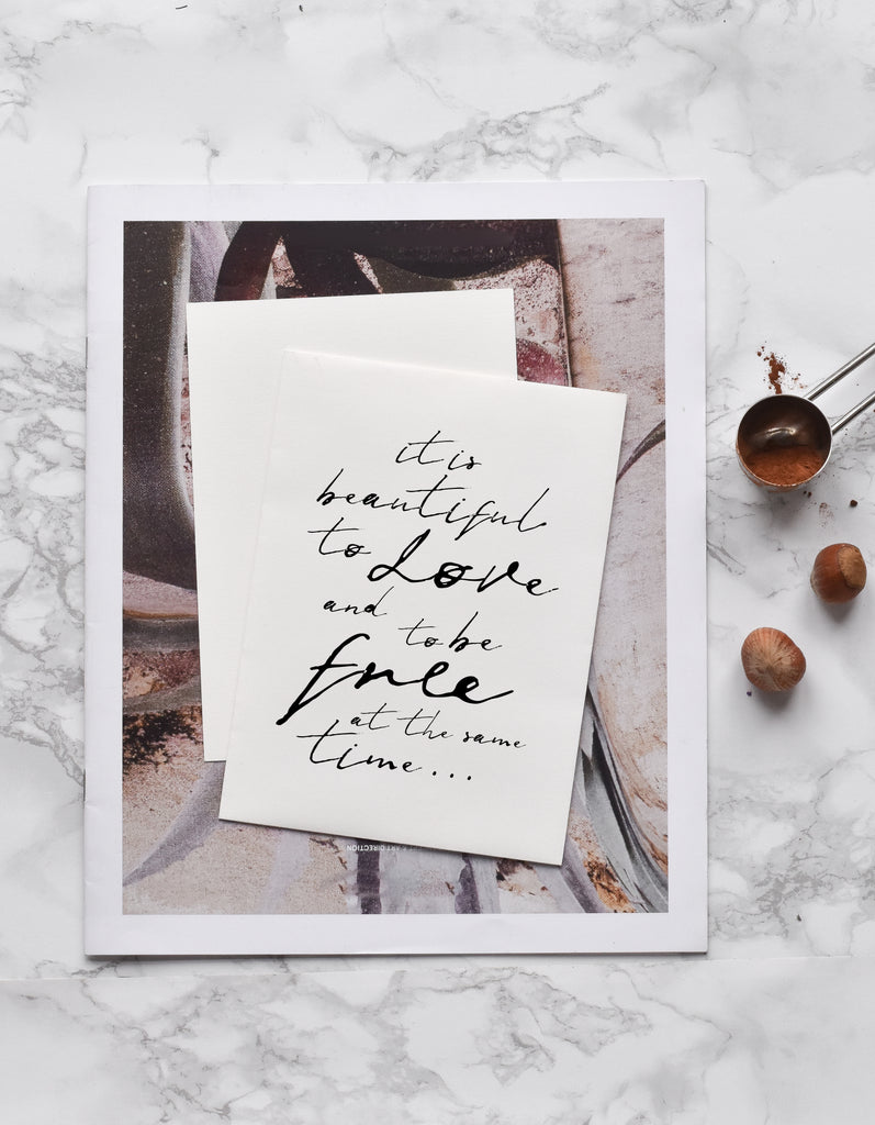 To Love and to be Free - THE PRINTABLE CONCEPT - Printable art posterDigital Download -