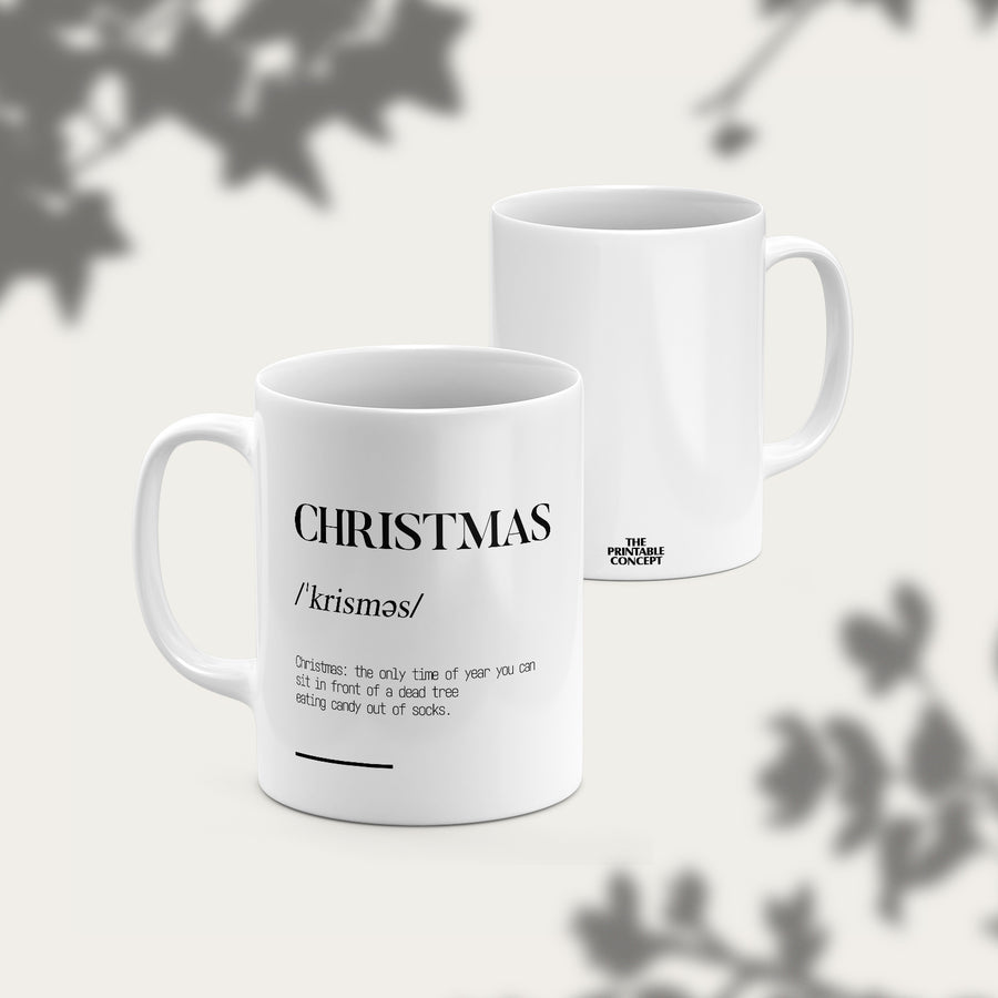 Christmas-definition Mug - THE PRINTABLE CONCEPT - Printable art posterDigital Download -