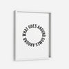 What goes around comes around. - THE PRINTABLE CONCEPT - Printable art posterDigital Download -