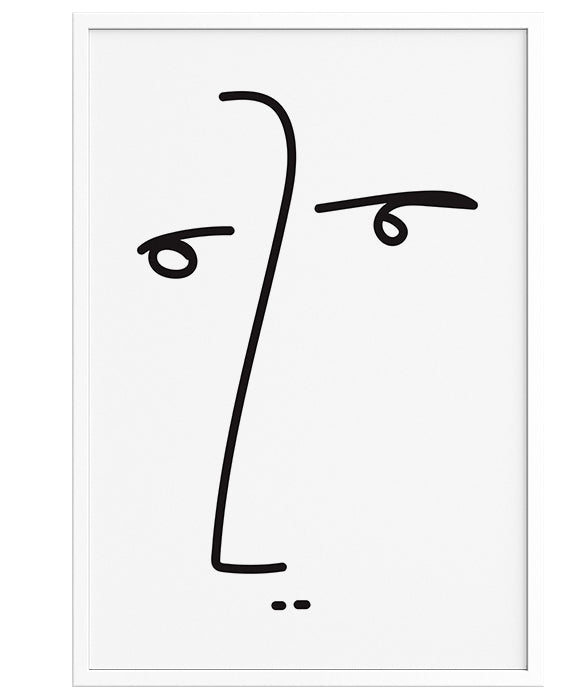 Felix face sketch Picasso drawing poster art print printable wall art