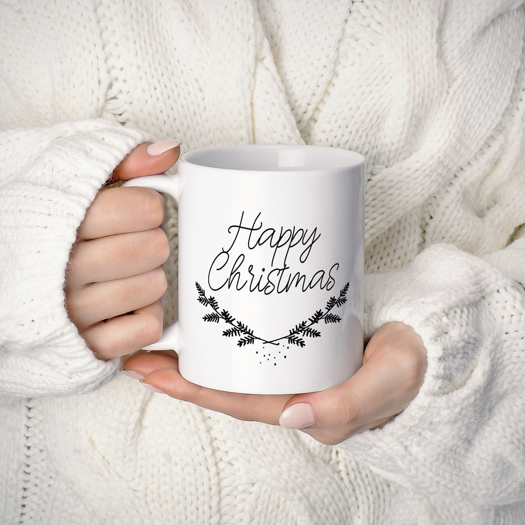 Happy Christmas Mug - THE PRINTABLE CONCEPT - Printable art posterDigital Download -