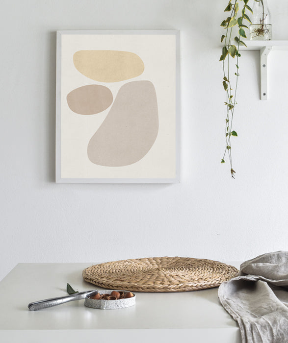 Modern Scandinavian Art Print Abstract beige modern Wall Art Poster Neutral