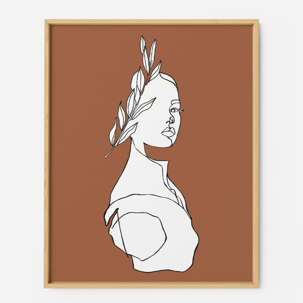 Aphrodite in Burnt Orange - THE PRINTABLE CONCEPT - Printable art posterDigital Download -