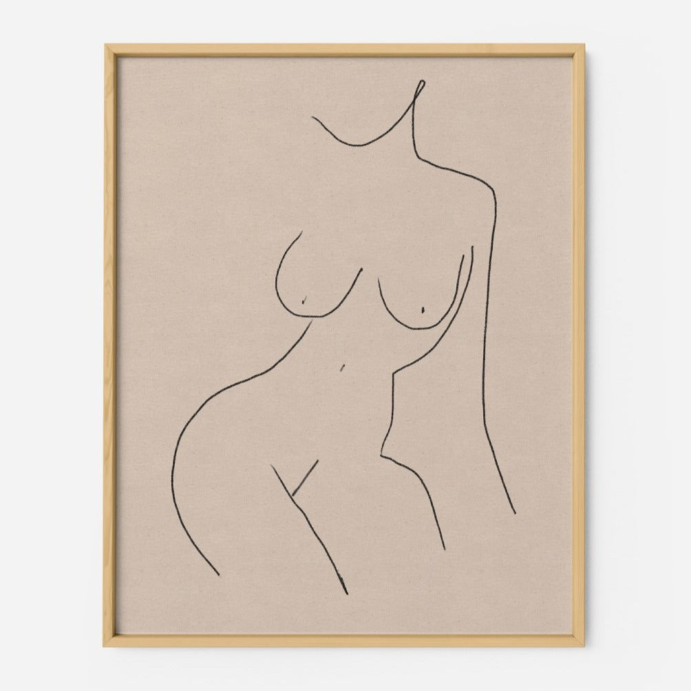 Female Nude - THE PRINTABLE CONCEPT - Printable art posterDigital Download -