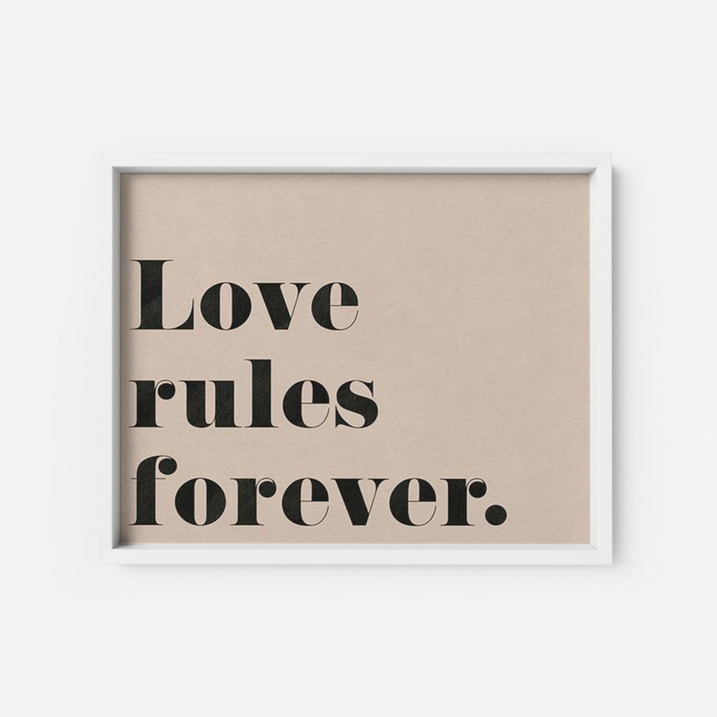 Love rules - THE PRINTABLE CONCEPT - Printable art posterDigital Download -