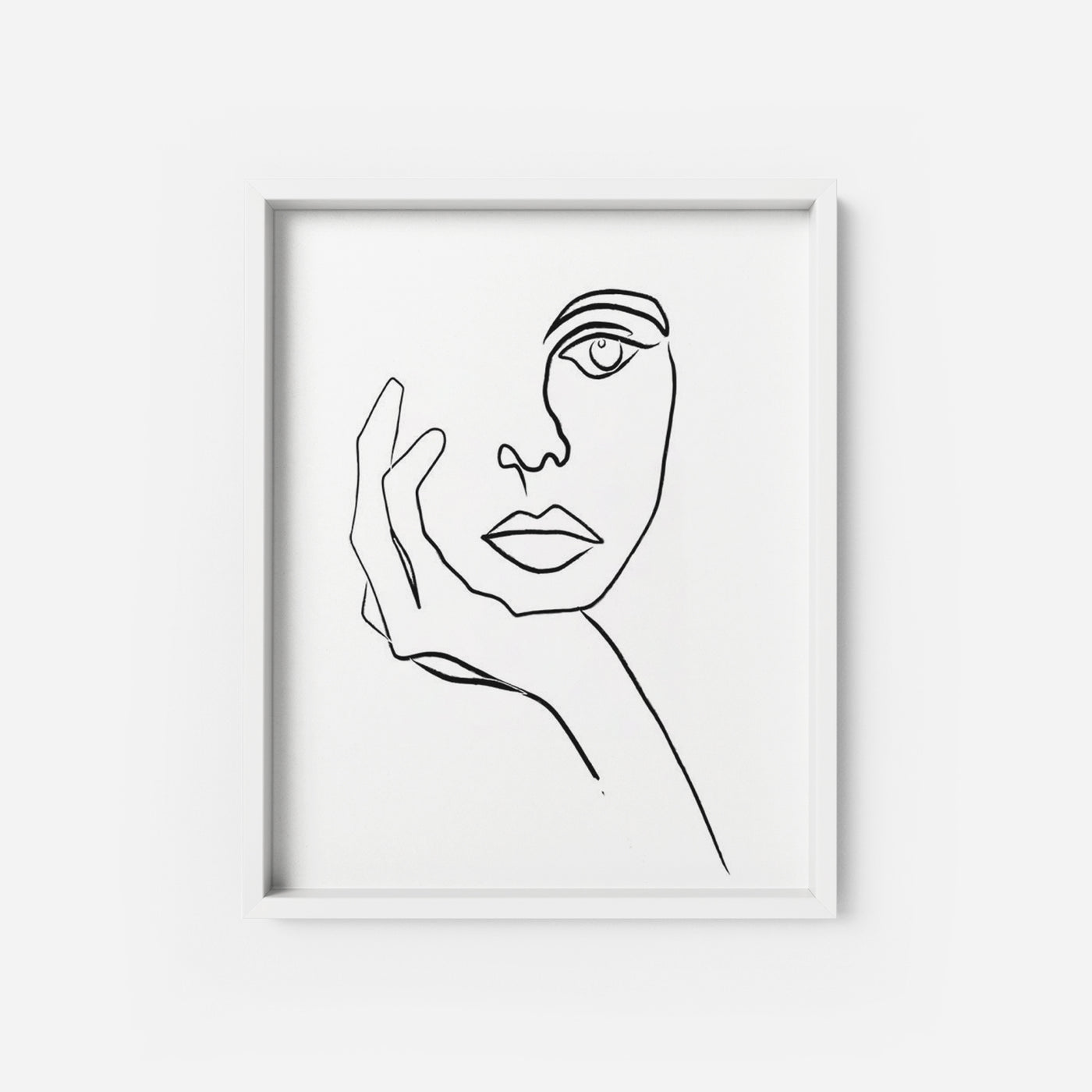 image relating to Black and White Printable Art titled The Thinker