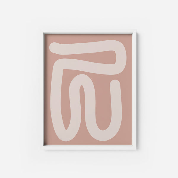 Pink Abstraction 2 - THE PRINTABLE CONCEPT - Printable art posterDigital Download -
