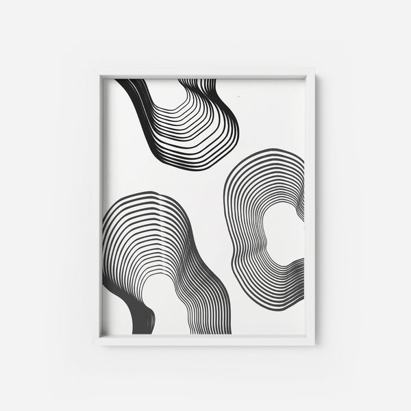 Black Lines 2 - THE PRINTABLE CONCEPT - Printable art posterDigital Download -
