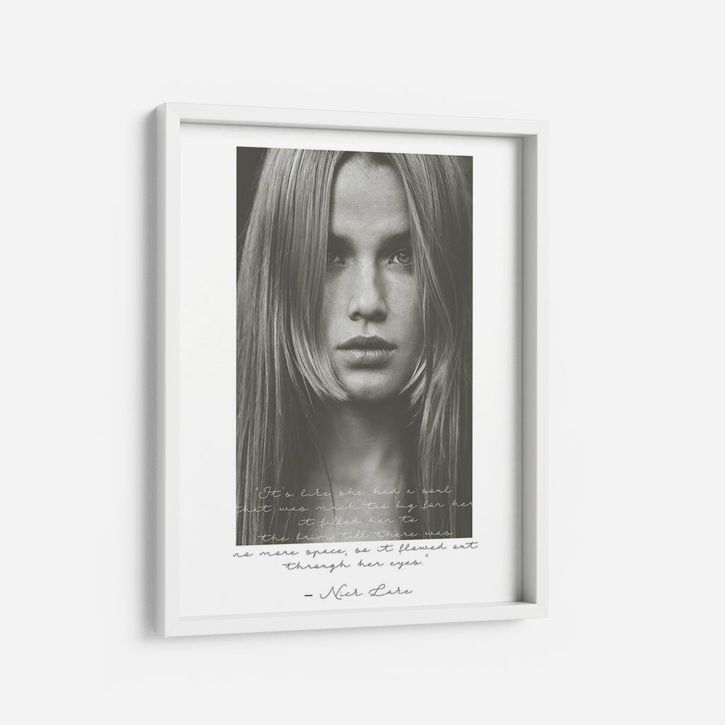Through her eyes - THE PRINTABLE CONCEPT - Printable art posterDigital Download -