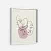 Pink Faces - THE PRINTABLE CONCEPT - Printable art posterDigital Download -