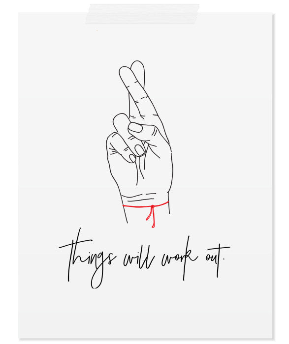 Things will work out | minimalist Motivational Quote Art Printable Poster minimal scandinavian art print