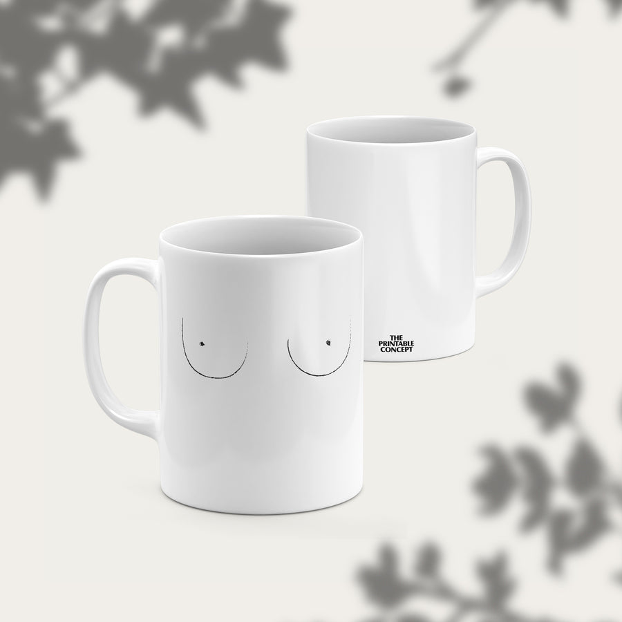 Boobies Mug - THE PRINTABLE CONCEPT - Printable art posterDigital Download -