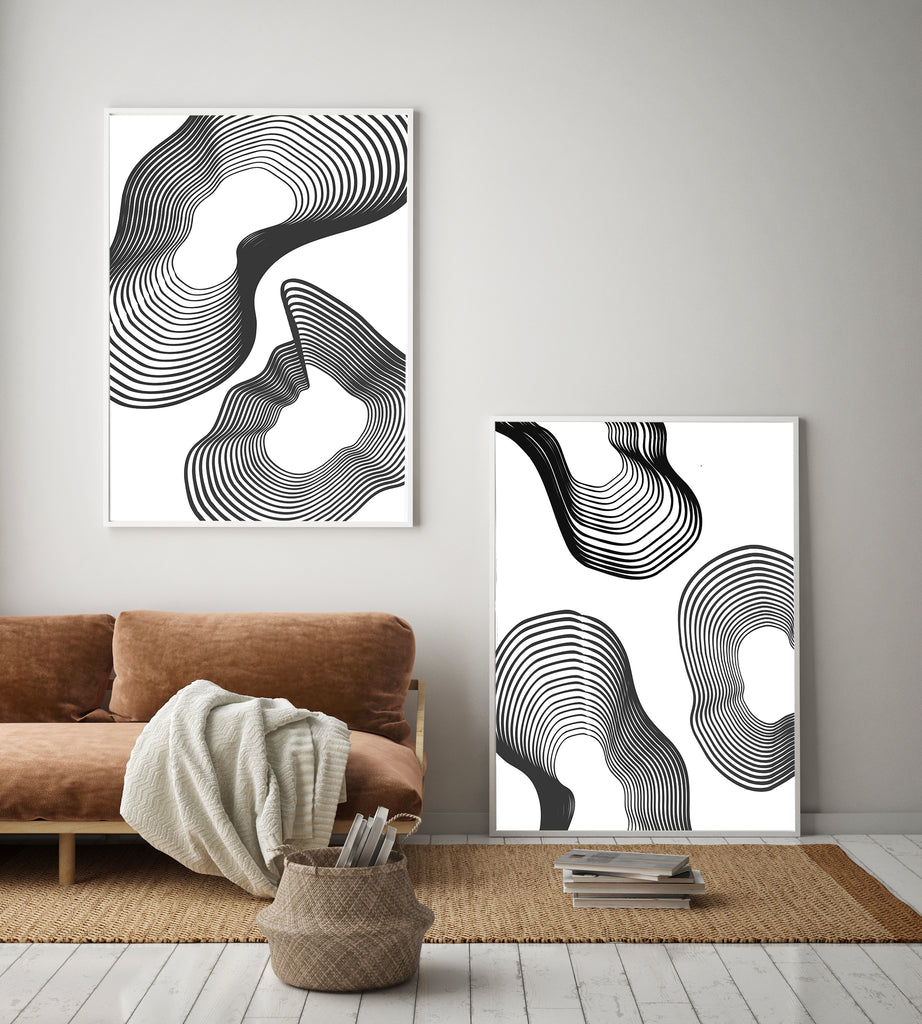 Black Lines 1 - THE PRINTABLE CONCEPT - Printable art posterDigital Download -