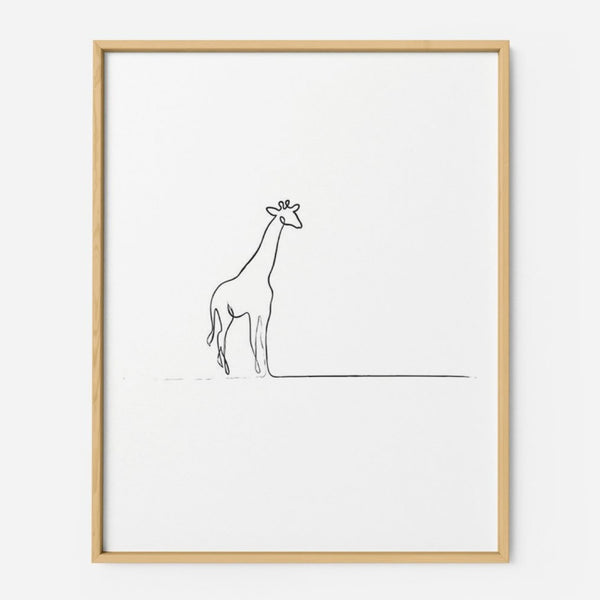 Giraffe - THE PRINTABLE CONCEPT - Printable art posterDigital Download -