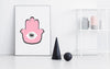 Pink Hamsa - THE PRINTABLE CONCEPT - Printable art posterDigital Download -
