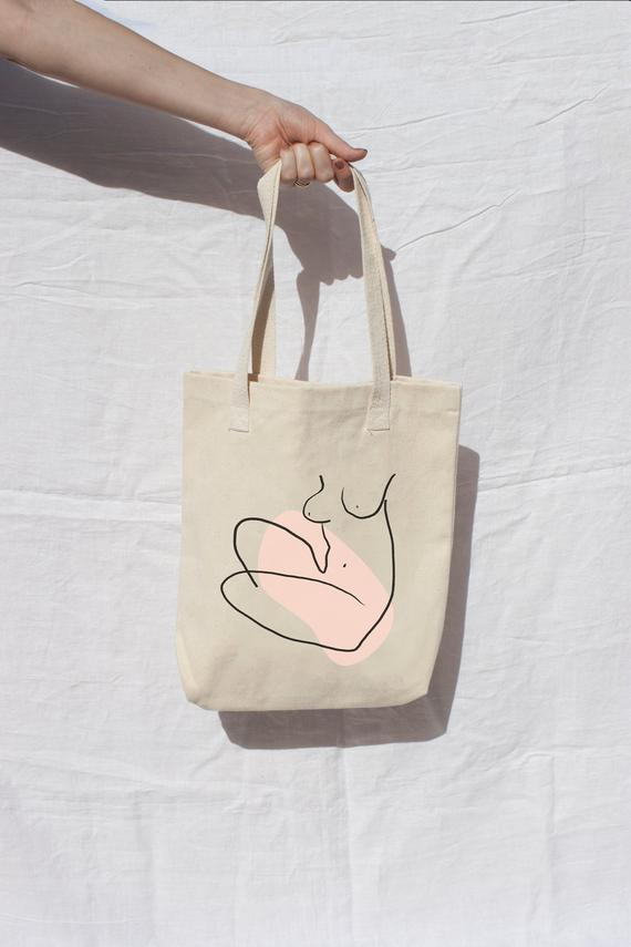 Nude Female Tote - THE PRINTABLE CONCEPT - Printable art posterDigital Download -