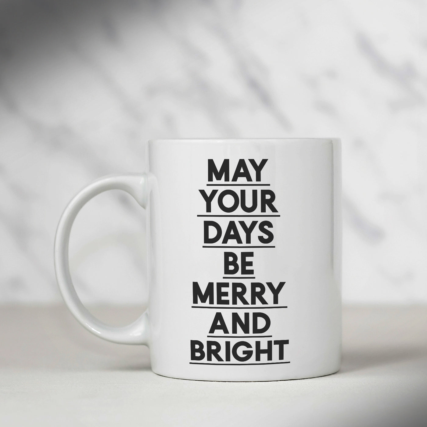 image about Printable Mugs called Merry and Dazzling Mug
