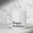 Happy Holidays Mug - THE PRINTABLE CONCEPT - Printable art posterDigital Download -