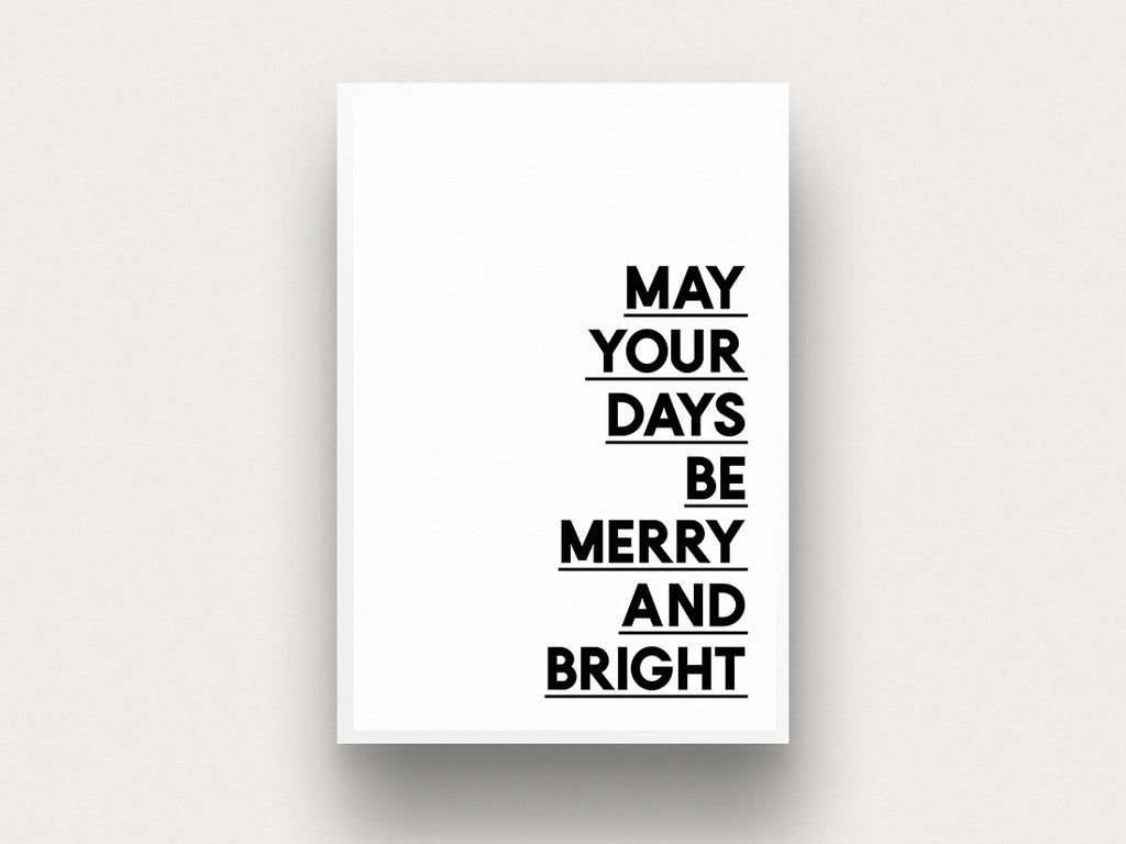 Merry and Bright - THE PRINTABLE CONCEPT - Printable art posterDigital Download -