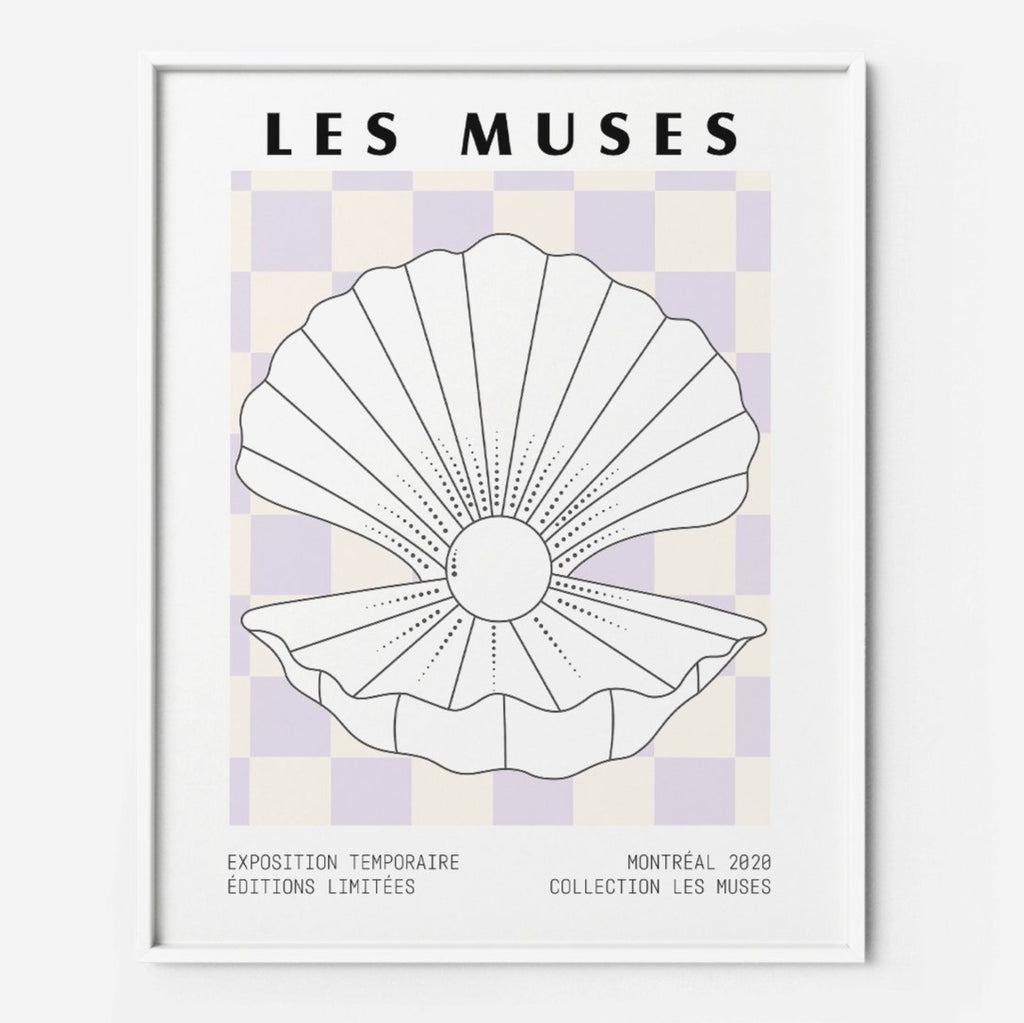 Checkered Lilac  | Checkered Lilac Pastel Museum Poster Print