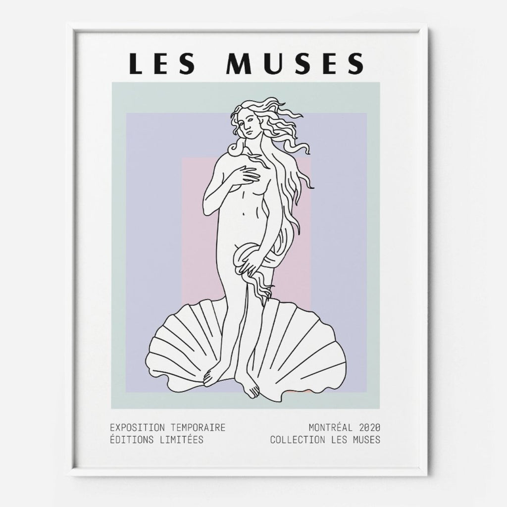 Greek Goddess Art Print | Modern Greek Pastel Printable Wall Art