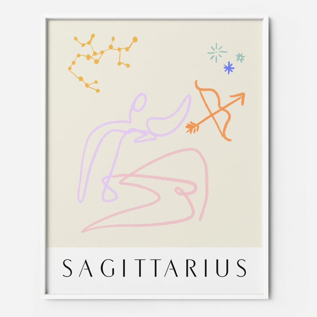 Sagittarius - THE PRINTABLE CONCEPT - Printable art posterDigital Download -