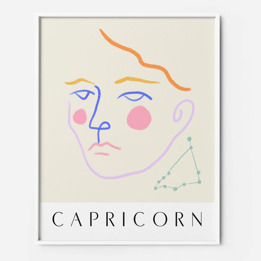 Capricorn 2 - THE PRINTABLE CONCEPT - Printable art posterDigital Download -