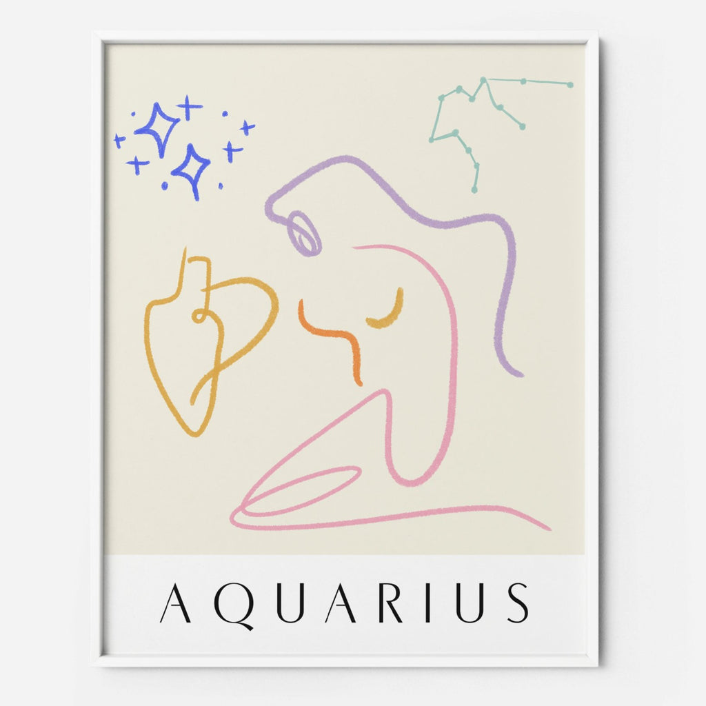 Aquarius - THE PRINTABLE CONCEPT - Printable art posterDigital Download -