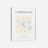 Greek drawings abstract art print poster