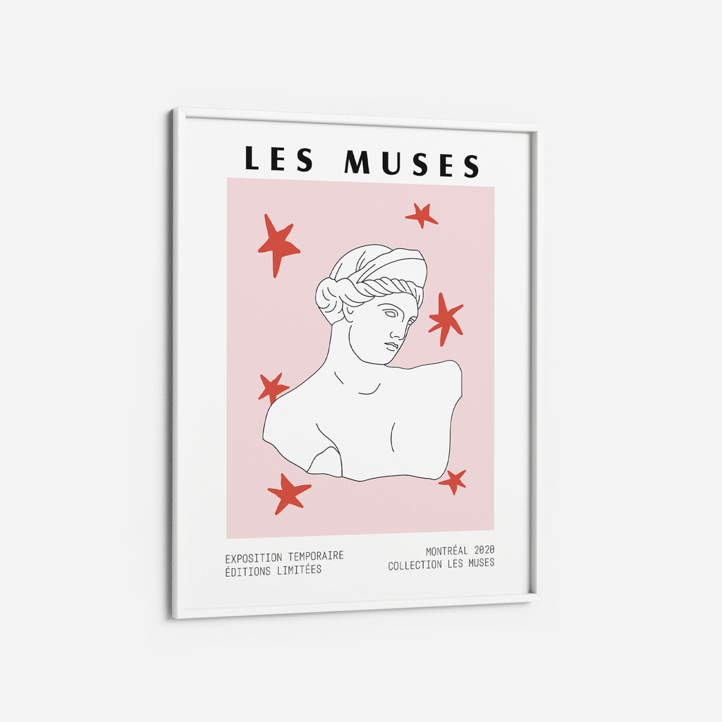 Greek goddess  Pink Red Museum Poster Print