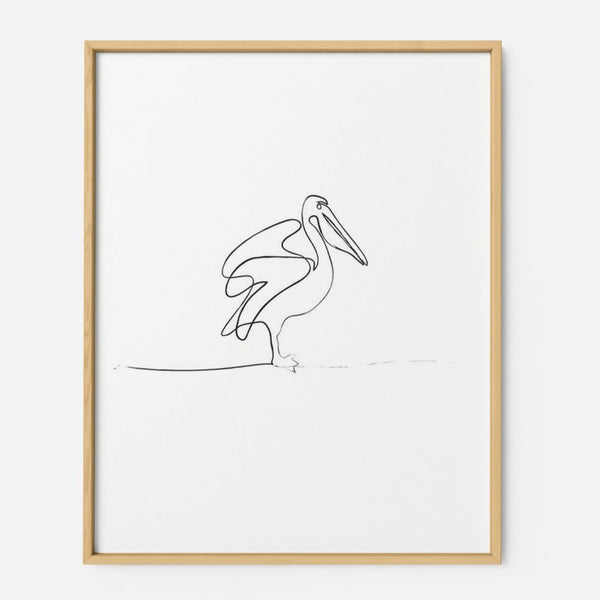 Pelican - THE PRINTABLE CONCEPT - Printable art posterDigital Download -